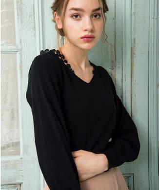 Noela (ノエラ) - Noela 【Ray12月号掲載】ポイントレースボリュームニット
