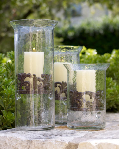GG Collection G G Collection Large Glass Candleholder