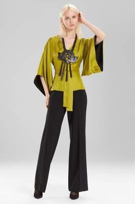 Josie Natori Silk Kimono Sleeve Top