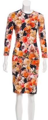Givenchy Printed Long Sleeve Dress