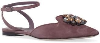 Dolce & Gabbana Suede Fango Chiara Flats