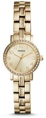 Fossil Shae Mini Three-Hand Gold-Tone Stainless Steel Watch