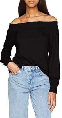 ... Pimkie Women s TS SS18 LSMOCKY T-Shirt,Large 764ec15767e