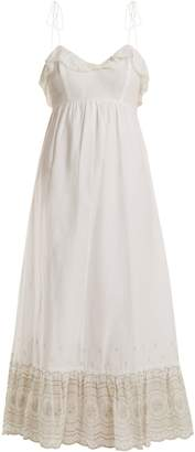 ATHENA PROCOPIOU Sunday Morning lace-trimmed maxi dress