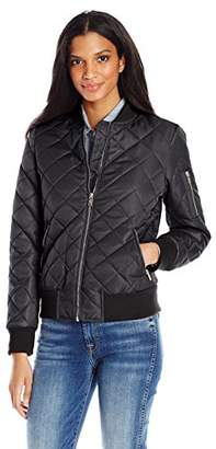 7 For All Mankind Women's Water Repellent Nylon Bomber Jacket