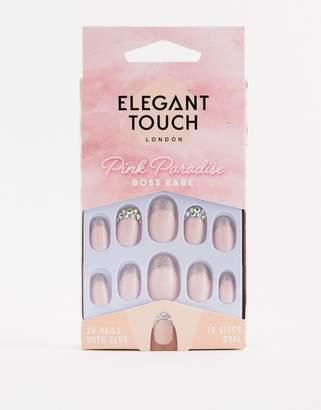 Elegant Touch Pink Paradise False Nails - Boss Babe