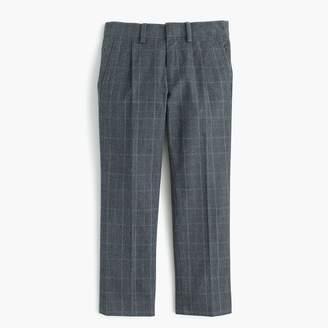 J.Crew Boys' trousers in glen plaid
