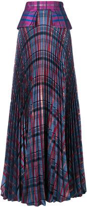 Daizy Shely pleated check maxi skirt