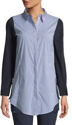 Anatomie Francine Stripe Stretch-Back Shirt