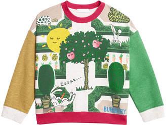 Burberry Garden Maze Colorblock Long-Sleeve Shirt, Size 3-14