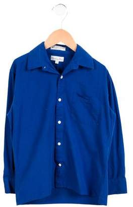 Christian Dior Boys' Long Sleeve Button-Up Shirt
