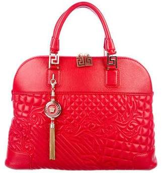 Pre Owned At Therealreal Gianni Versace Athena Quilted Barocco Vanitas Bag