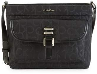 Calvin Klein Buckle Nylon Messenger Bag