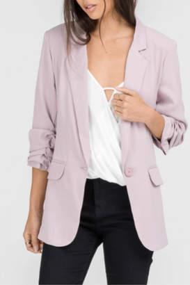 Lush Ruched Sleeve Blazer