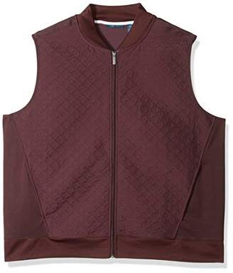 Perry Ellis Men's Big & Tall Quilted Zip-Front Vest
