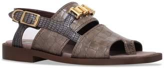 Stella McCartney Crocodile-Embossed Sandals