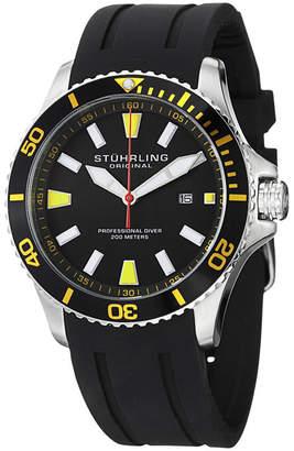 Stuhrling Original Mens Black Strap Watch-Sp14321