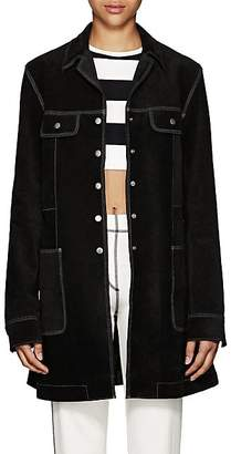 Marc Jacobs Women's Topstitched Suede Coat - Black