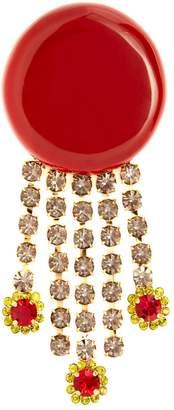 Marni Crystal-tassell brooch