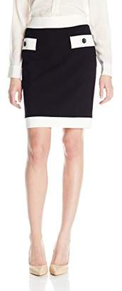 Nine West Women's Slim Skirt W/Contrast Pocket Detail