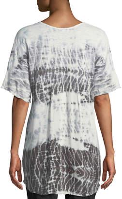 XCVI Philo Short-Sleeve Tie-Dye Tunic