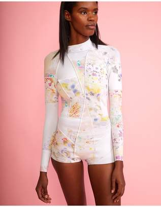 Cynthia Rowley Light Floral High Tide Wetsuit - Cr X Goop Exclusive