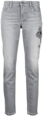 Cambio embellished cropped jeans