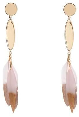 Ettika Feather Drop Earrings