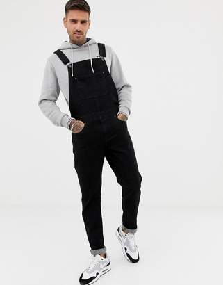 Asos Design DESIGN dungarees in black