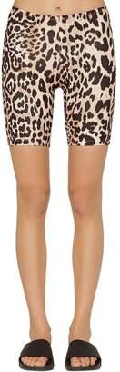 Paco Rabanne Leopard Printed Jersey Short Leggings