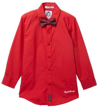 English Laundry Dress Shirt & Matching Bow Tie (Big Boys)