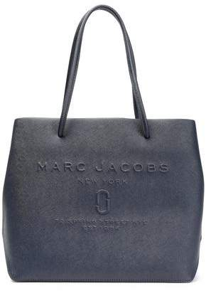 Marc Jacobs East/west Logo-embossed Textured-leather Tote