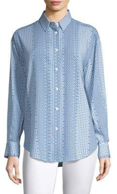 Piazza Sempione Fluid Button-Front Shirt