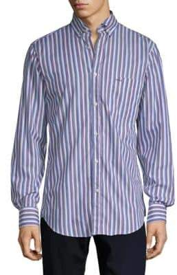 Paul & Shark Striped Cotton Dress Shirt