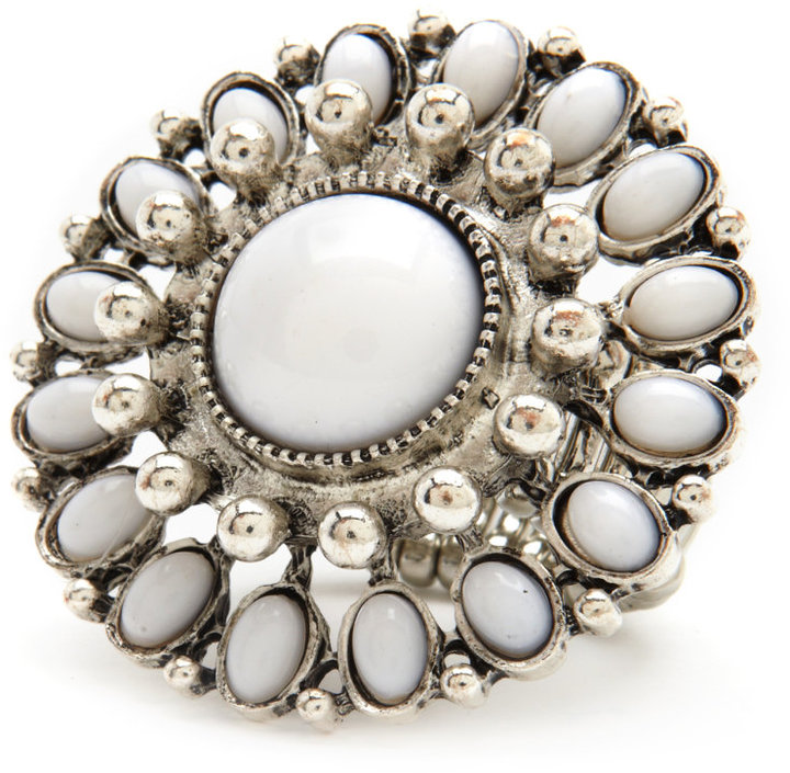 Bead Flower Stretch Ring