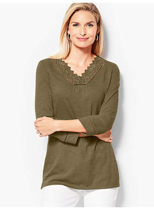 Talbots Cotton Eyelet Tunic