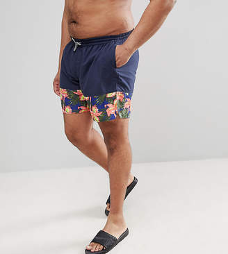 Replika Swim Short With Floral Panel
