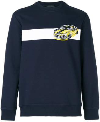 Diesel Black Gold car print sweatshirt