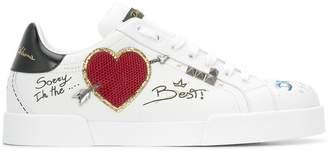 Dolce & Gabbana Portofino graffiti sneakers