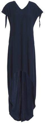 Sanford Asymmetric Satin-Crepe Dress