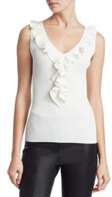 Saks Fifth Avenue COLLECTION Ruffle Tank Top