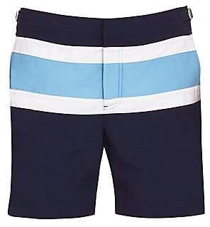 Orlebar Brown Men's Bulldog Stripe Panel Swim Trunks