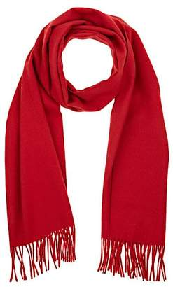 Barneys New York MEN'S FRINGED ANGORA-BLEND SCARF - RED