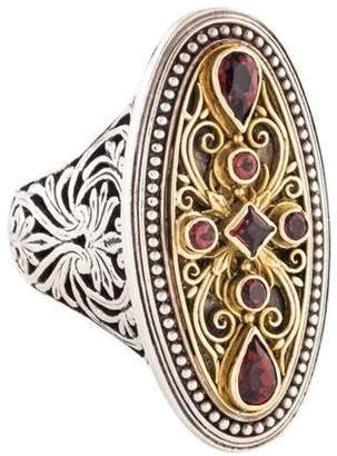 Konstantino Garnet Cocktail Ring