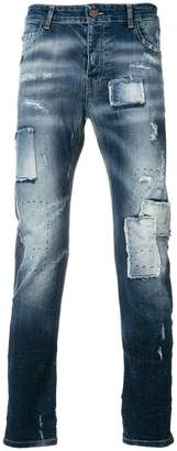 Frankie Morello light-wash fitted jeans