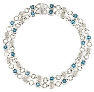 David Yurman Topaz & Diamond Renaissance Necklace $2,995 thestylecure.com