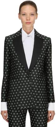ALEXACHUNG Floral Jacquard Jacket