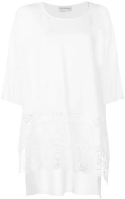 Faith Connexion macramé detailing boxy T-shirt