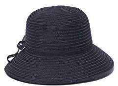 Physician Endorsed Women's Mae Fold-Roll-Tie Packable Cloche Sun Hat