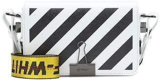 Off-White Mini Binder Clip leather shoulder bag
